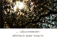 discernment-obstructs-your-way-to-cognisance