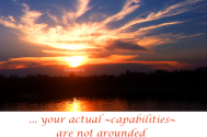 your-actual--capabilities--are-not-grounded-on-your-power-of-imagination