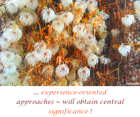 experience-oriented-approaches--will-obtain-central-significance