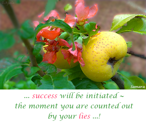 success-will-be-initiated--the-moment-you-are-counted-out-by-your-lies