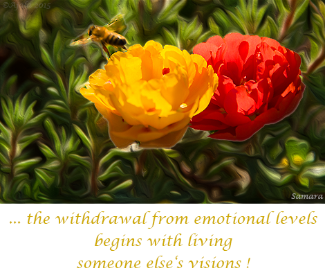 the-withdrawal-from-emotional-levels-begins-with-living-someone-else-s-visions