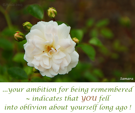 your-ambition-for-being-remembered--indicates-that-YOU-fell-into-oblivion-about-yourself-long-ago