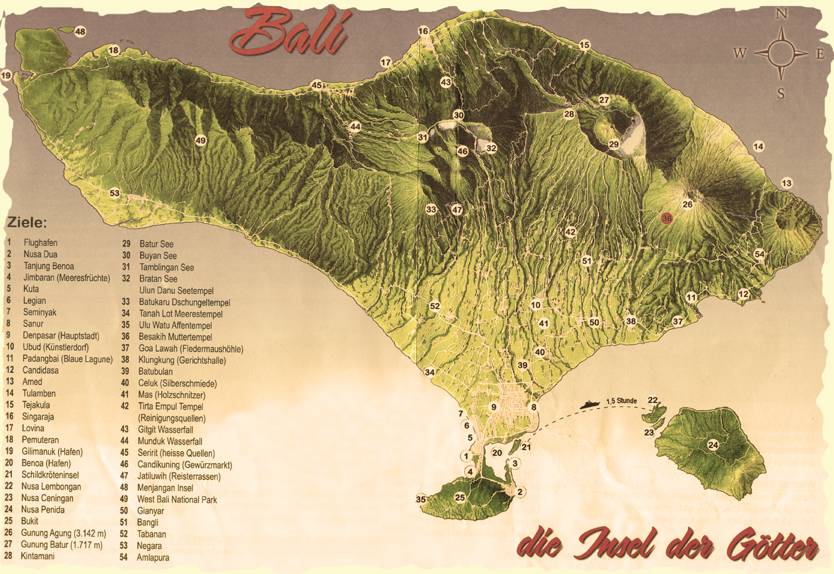 Ajala Bali-Karte