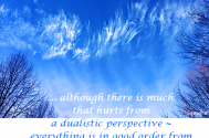 although-there-is-much-that-hurts-from-a-dualistic-perspective--everything-is-in-good-order-from--a-higher-level-s-perspective